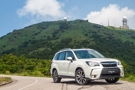 Hong Kong, China Aug 23, 2016 : Subaru Forester STI 2016 Test Drive Day on Aug 23 2016 in Hong Kong. Editorial