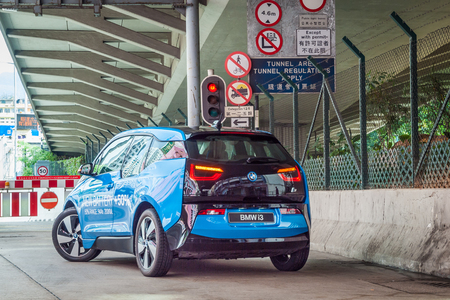 i3: Hong Kong, China Oct 24, 2016 : BMW i3 90Ah Drive Day on Oct 24 2016 in Hong Kong.