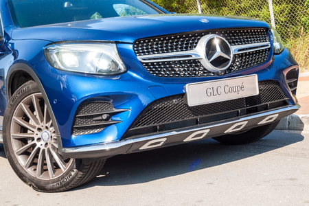 Hong Kong, China Nov 14, 2016 : Mercedes-Benz GLC 250 Coupe Drive Day on Nov 14 2016 in Hong Kong.