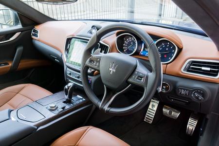 Hong Kong, China Oct 5, 2016 : Maserati Ghibli S Interior On.. Stock ...