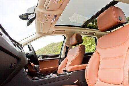Hong Kong, China Feb 6, 2017 : Volkswagen Touareg Hybrid 2017 Interior Test Drive Day on Feb 6 2017 in Hong Kong. Editorial