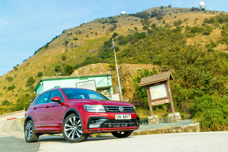 Hong Kong, China Feb 17, 2017 : Volkswagen Tiguan R 2017 Test Drive Day on Feb 17 2017 in Hong Kong. Editorial