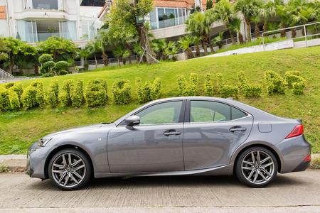 Hong Kong, China May 19, 2017 : Lexus IS 200t 2017 Test Drive Day May 19 2017 in Hong Kong.