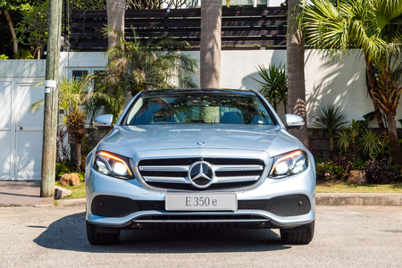 Hong Kong, China Feb 17, 2017 : Mercedes-Benz E 350 e Plug-in Hybrid 2017 Test Drive Day on Feb 17 2017 in Hong Kong.