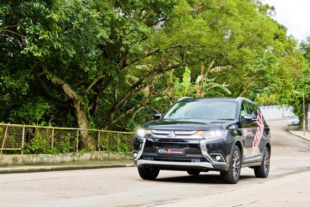 Hong Kong, China June 23, 2017 : Mitsubishi Outlander 2017 Test Drive Day Test Drive Day June 23 2017 in Hong Kong.