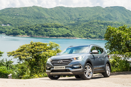 Hong Kong, China July 11, 2017 : Hyundai Santafe 2017 Test Drive Day July 11 2017 in Hong Kong.