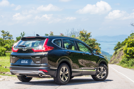 Hong Kong, China July 28, 2017 : Honda CR-V 2017 Test Drive Day July 28 2017 in Hong Kong.