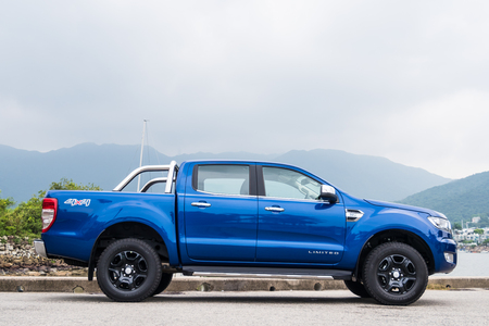 Hong Kong, China July 31, 2017 : Ford Ranger Master Edition 2017 Test Drive Day July 31 2017 in Hong Kong.