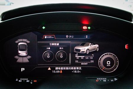 Hong Kong, China Jan 4, 2018 : Audi TTRS 2018 Dashboard Jan 4 2018 in Hong Kong.