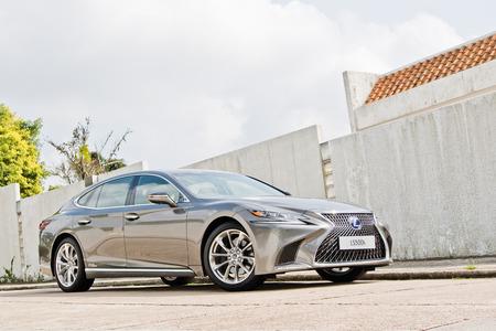 Hong Kong, China March 5, 2018 : Lexus ES 500h 2018 Test Drive Day March 5 2018 in Hong Kong.