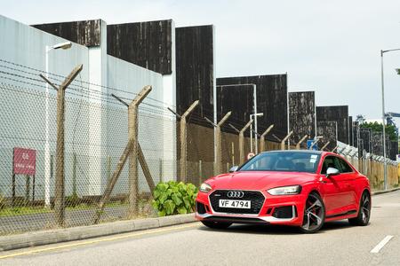 Hong Kong, China March 2, 2018 : Audi RS5 2018 Test Drive Day March 2 2018 in Hong Kong.