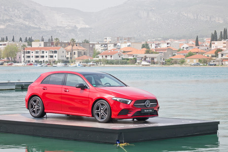 Croatia, Balkans March 2, 2018 : Mercedes-Benz A-Class 2018 Test Drive Day March 2 2018 in Croatia. Reklamní fotografie - 111316928