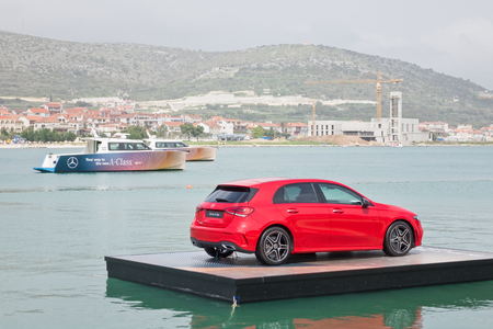 Croatia, Balkans March 2, 2018 : Mercedes-Benz A-Class 2018 Test Drive Day March 2 2018 in Croatia.