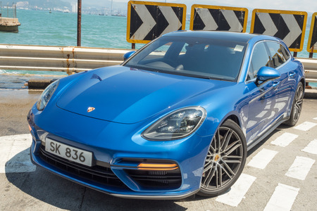 Hong Kong, China May 17, 2018 : Porsche Panamera 2018 Test Drive Day May 17 2018 in Hong Kong.