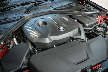 Hong Kong, China May 17, 2018 : BMW 420i Gran Coupe 2018 Engine May 17 2018 in Hong Kong.