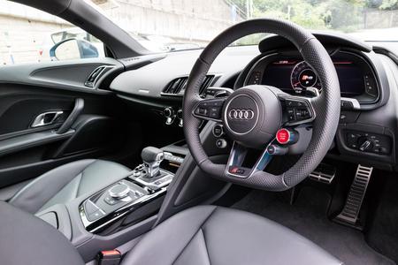 Hong Kong, China July 3, 2018 : Audi R8 2018 Interior July 3 2018 in Hong Kong.