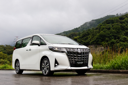 Hong Kong, China May 7, 2018 : Toyota Alphard 2018 Test Drive Day May 7 2018 in Hong Kong. 報道画像