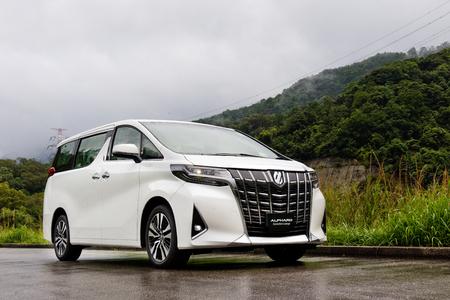 Hong Kong, Chine 7 mai 2018 : Toyota Alphard 2018 Test Drive Day 7 mai 2018 à Hong Kong. Éditoriale
