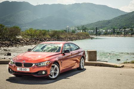 Hong Kong, China May 17, 2018 : BMW 420i Gran Coupe 2018 Test Drive Day May 17 2018 in Hong Kong. Editorial