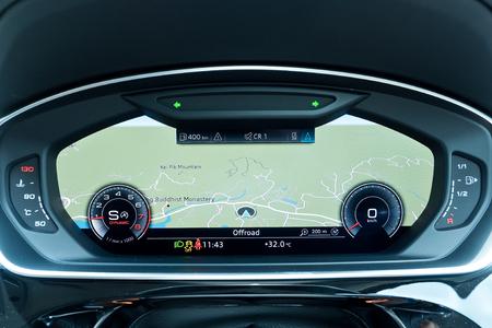 Hong Kong, China June 28, 2018 : Audi A8 2018 Dashboard June 28 2018 in Hong Kong.