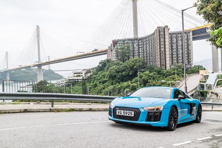 Hong Kong, China July 3, 2018 : Audi R8 2018 Test Drive Day July 3 2018 in Hong Kong.