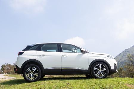 Hong Kong, China Sept 28, 2018 : Peugeot 3008 2018 Test Drive Day Sept 28 2018 in Hong Kong.