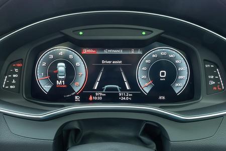 Hong Kong, China Oct 31, 2018 : Audi A6 55 TFSI 2018 Dashboard Oct 31 2018 in Hong Kong.