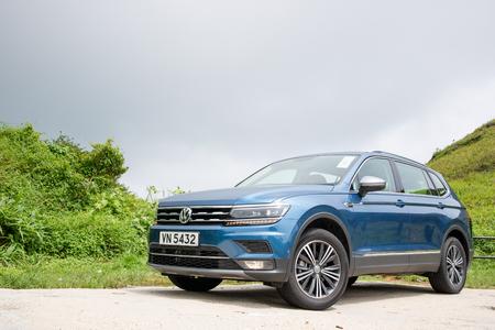 Hong Kong, China Aug 15, 2018 : Volkswagen Tiguan 2018 Test Drive Day Aug 15 2018 in Hong Kong. Editorial