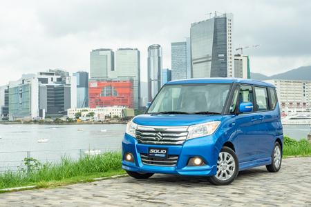 Hong Kong, China Aug 31, 2018 : Suzuki Solio Hybrid 2018 Test Drive Day Aug 31 2018 in Hong Kong.