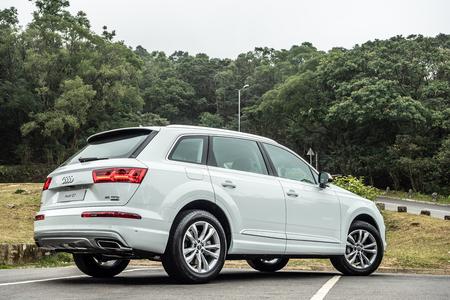 Hong Kong, China Jan 8, 2019 : Audi Q7 2019 Test Drive Day  Jan 8 2019 in Hong Kong.