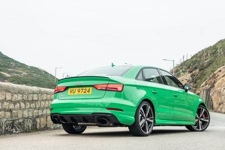 Hong Kong, China Jan 8, 2019 : Audi RS 3 2019 Test Drive Day   Jan 16 2019 in Hong Kong.