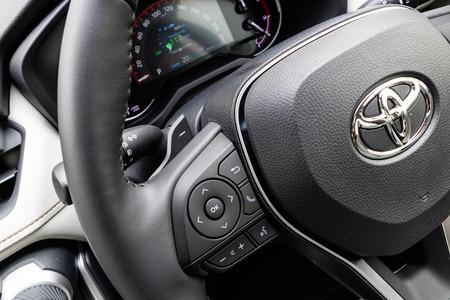 Hong Kong, China Jan 21, 2019 :Toyota RXV4 2019 Gear Box Shift Jan 21 2019 in Hong Kong. Editorial