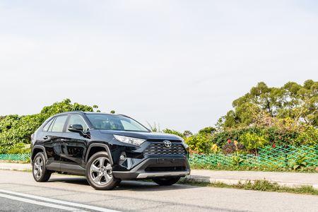 Hong Kong, China Jan 21, 2019 : Toyota RXV4 2019 Test Drive Day Jan 21 2019 in Hong Kong.