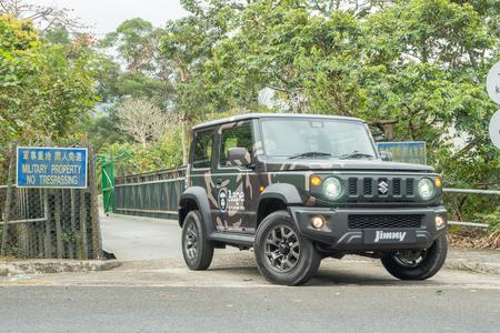 Hong Kong, China March 26, 2019 : Suzuki Jimny Test Drive Day March 26 2019 in Hong Kong.