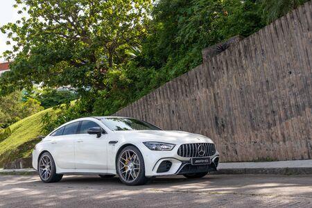 Hong Kong, China July, 2019 : Mercedes-AMG GT 4-door Test Drive Day on July 5 2019 in Hong Kong.