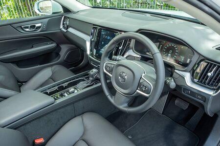Hong Kong, China Oct, 2019 : Volvo S60 Interior on Oct 30 2019 in Hong Kong. Redakční