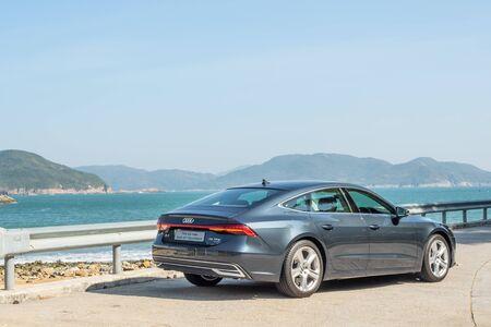 Hong Kong, China Dec, 2019 : Audi A7 Sportback Test Drive Day on Dec 3 2019 in Hong Kong. Redakční