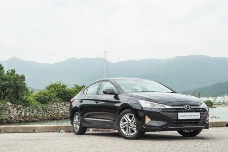 Hong Kong, China Oct, 2019 : Hyundai Elantra Test Drive Day on Oct 31 2019 in Hong Kong.