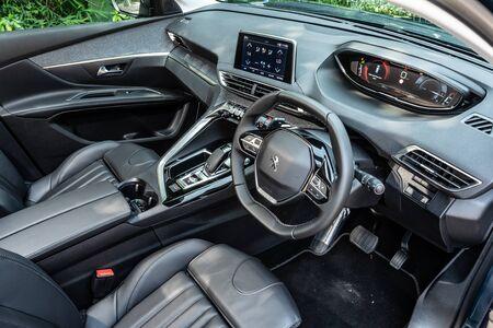 Hong Kong, China July, 2019 : Peugeot 5008 Interior on Sept 11 2019 in Hong Kong.