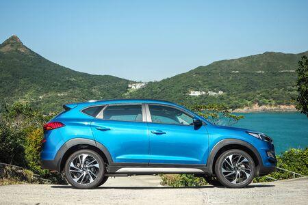 Hong Kong, China Nov, 2019 : Hyundai Tucson Test Drive Day on Nov 28 2019 in Hong Kong.
