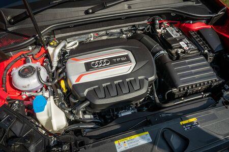 Hong Kong, China Nov, 2019 : Audi S2 Engine on Nov 7 2019 in Hong Kong.