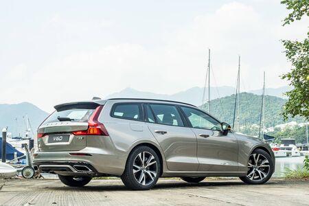Hong Kong, China July, 2019 : Volvo XC60 Test Drive Day on Sept 18 2019 in Hong Kong.