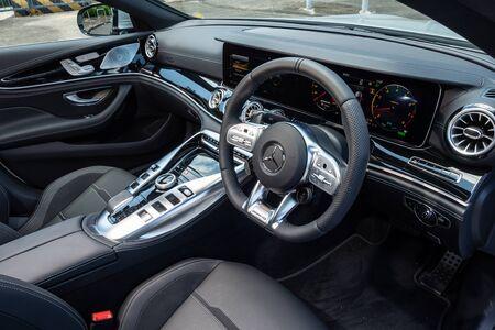 Hong Kong, China July, 2019 : Mercedes-AMG GT 53 Interior on Aug 28 2019 in Hong Kong.