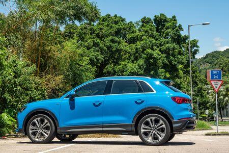 Hong Kong, China July, 2019 : Audi Q3 Test Drive Day on Aug 5 2019 in Hong Kong.