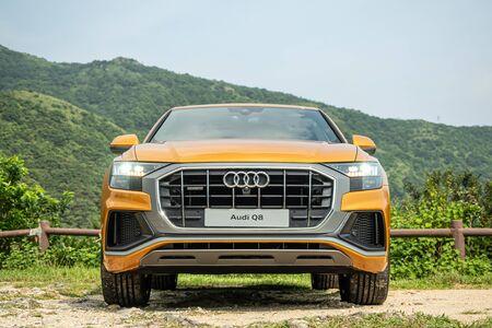 Hong Kong, China July, 2019 : Audi Q8 Test Drive Day on Aug 22 2019 in Hong Kong. Redakční