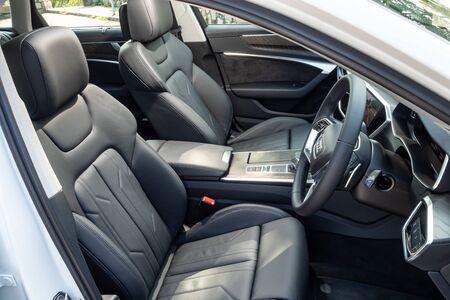 Hong Kong, China Oct, 2019 : Audi A6 Avant Interior on Oct 10 2019 in Hong Kong.
