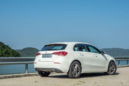 Hong Kong, China Oct, 2019 : Mercedes-Benz A220 Test Drive Day on Oct 16 2019 in Hong Kong.