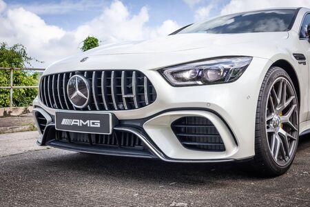 Hong Kong, China July, 2019 : Mercedes-AMG GT 4-door Test Drive Day on July 5 2019 in Hong Kong. Redakční