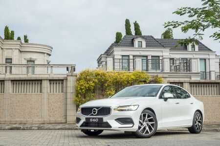 Hong Kong, China Oct, 2019 : Volvo S60 Test Drive Day on Oct 30 2019 in Hong Kong.