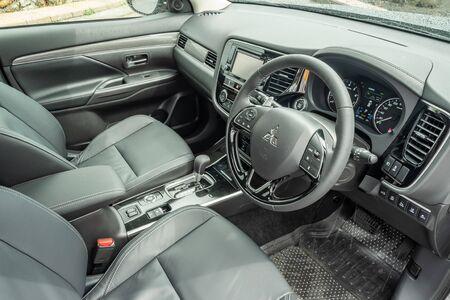 Hong Kong, China May, 2019 : Mitsubishi Outlander Interior on May 31 2019 in Hong Kong.